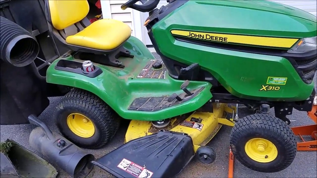 How to put a belt on a John Deere lawnmower